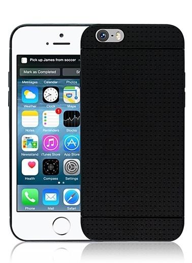 Microsonic Dot Style Silikon iPhone  6 Plus 5.5'' Kılıf Siyah Renkli